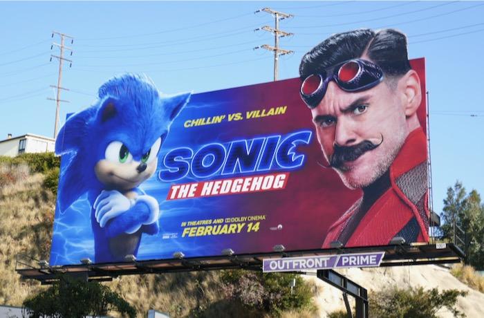 Sonic the Hedgehog movie billboard