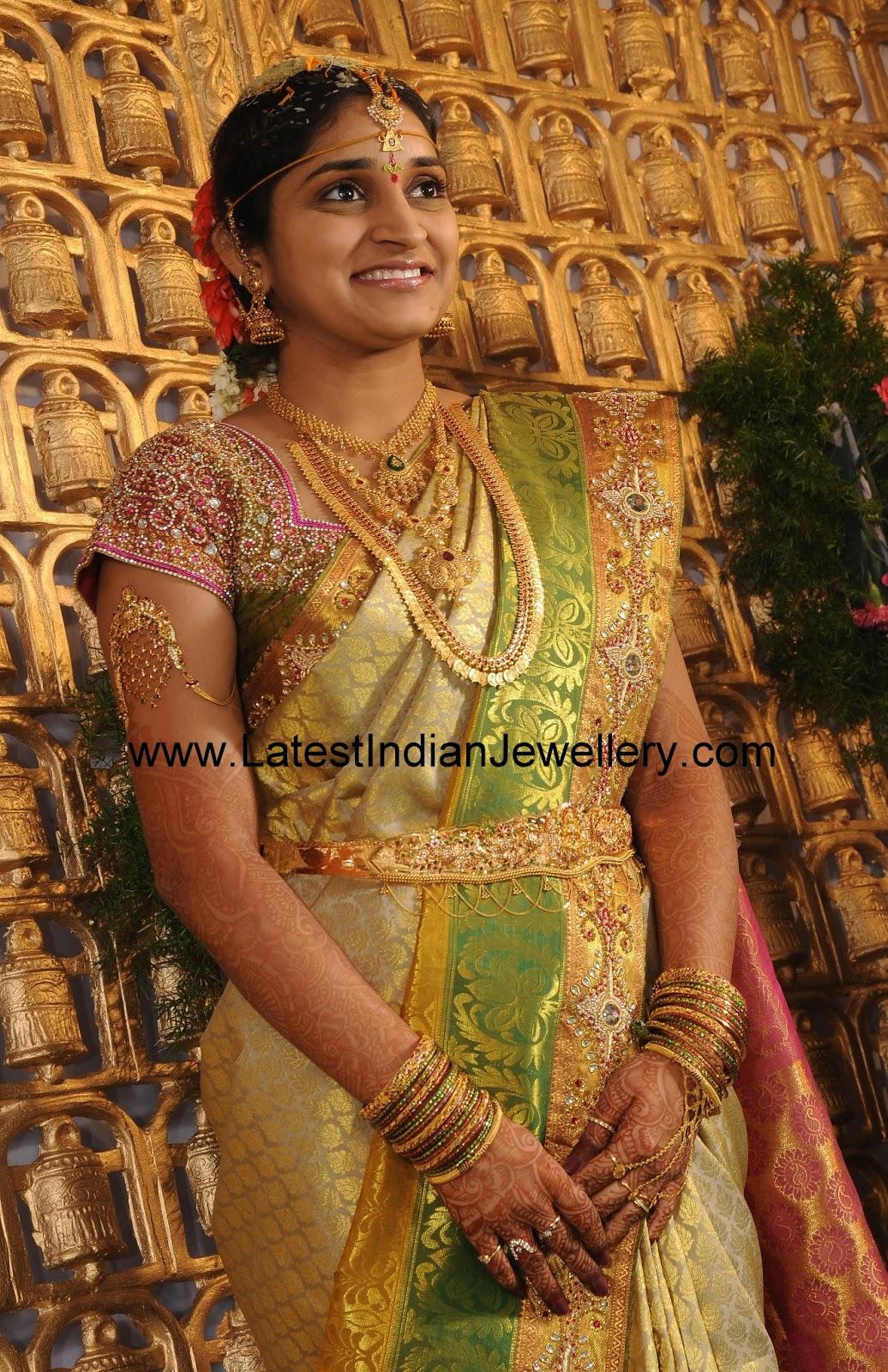 Complete Indian Gold Bridal Set
