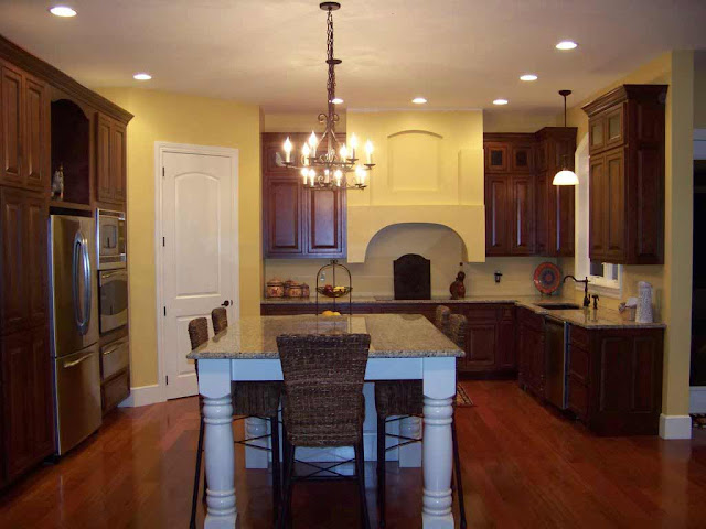 Kitchen With Dark Hardwood Flooring
