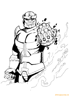 Printable Avengers Thanos Coloring Pages