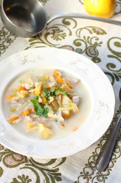 soupe porc et coings