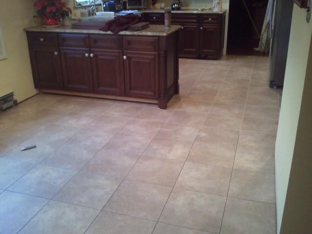 How To Install Ceramic Floor Tile >> Floor Installation Photos: Congoleum DuraCeramic Tile Install