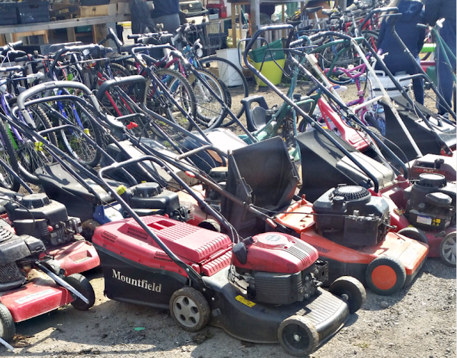 Lawnmowers and bikes