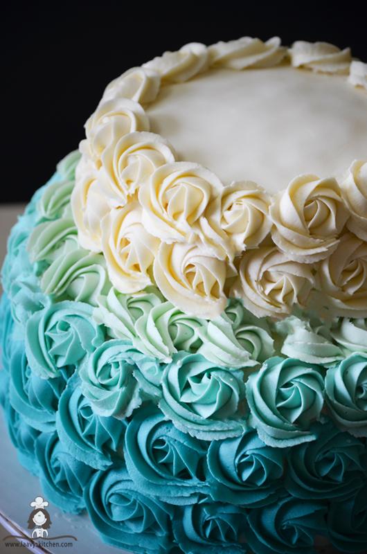 Eggless Rose Cake Recipe