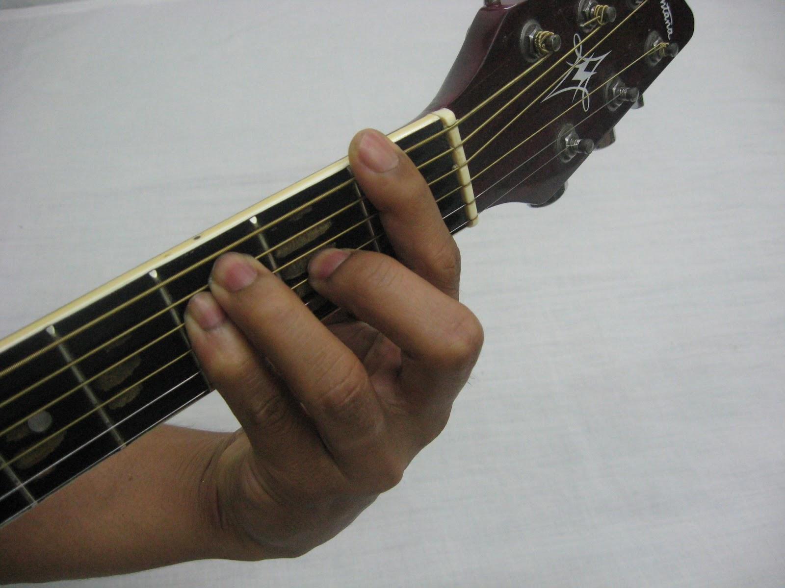Am7 chord guitar finger