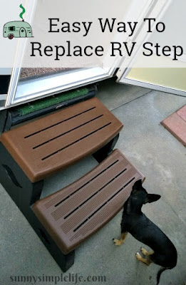 RV Trailer Step Replacement