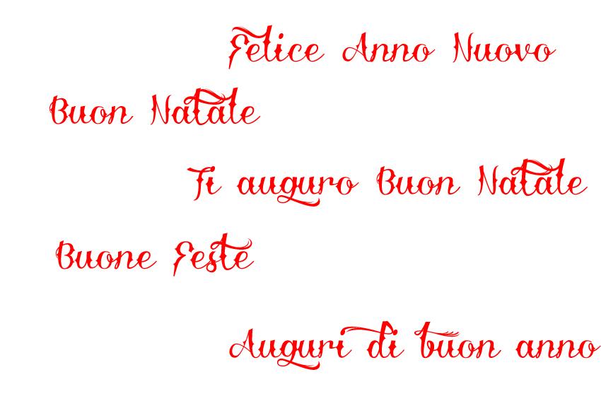 Życzenia świąteczne po włosku
