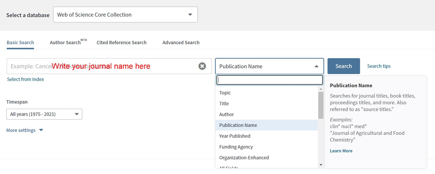 How to find Journal Q Index from Web of Science