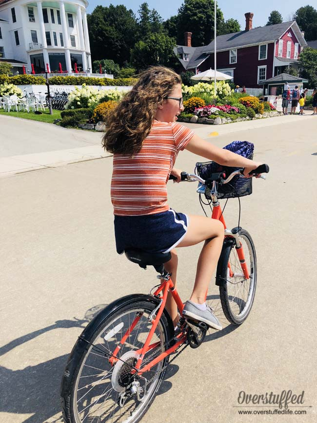 Biking around Mackinac Island is a great way to see all the island has to offer and is a fun family activity