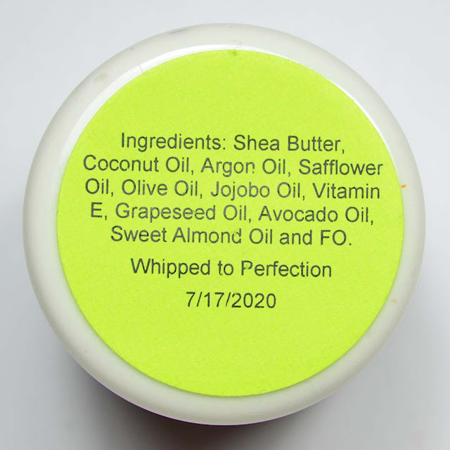 scented whipped body butter ingredients list