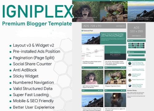 Download template igniplex premium untuk blogger