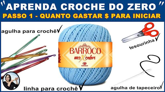 CURSO DE CROCHÊ GRÁTIS 100 PASSO A PASSO INICIANTES