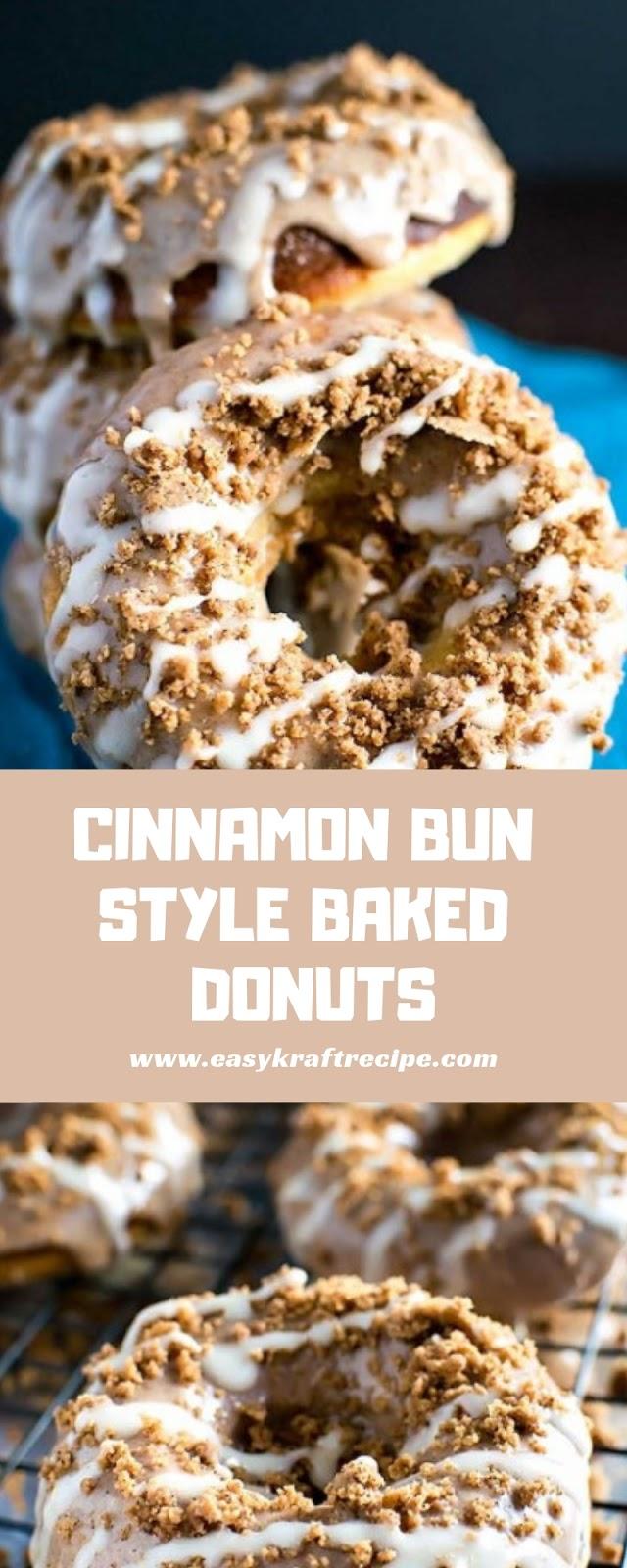 CINNAMON BUN STYLE BAKED DONUTS