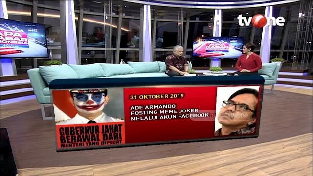 Kritik Meme BEM UI soal Jokowi, Ade Armando Dismash Balik soal Meme 'Anies Joker'