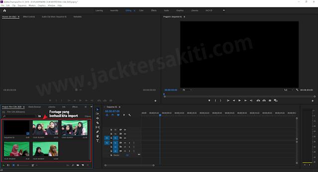Import Media File di Adobe Premiere Pro CC 2019