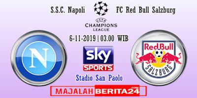 Prediksi Napoli vs Red Bull Salzburg — 6 November 2019