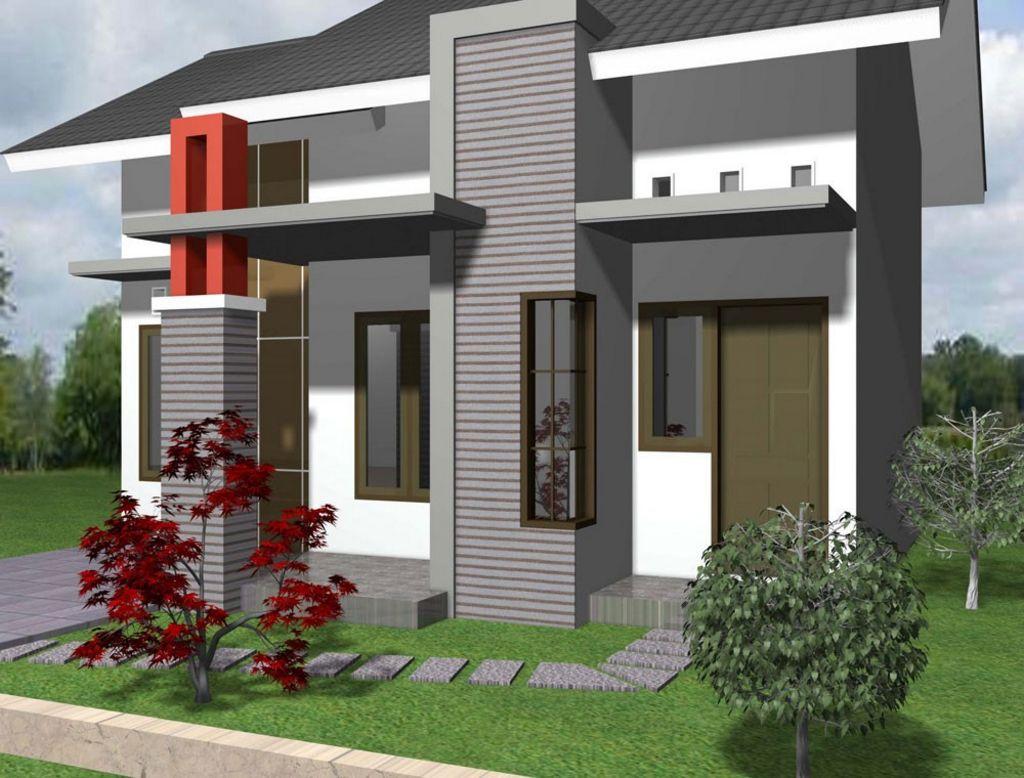 gabungan warna cat depan rumah minimalis terkini