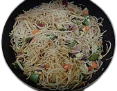 Vegetarian Chow mein(image is symbolic).