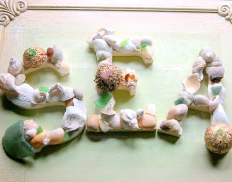 decorative seashell letters