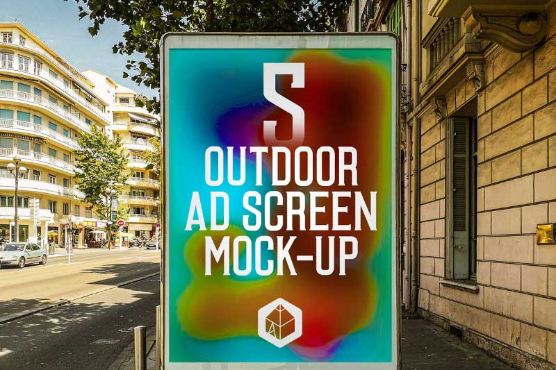 Outdoor Ad Screen MockUps Bundle 4655707