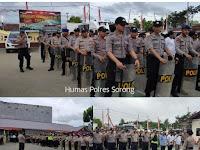 Sikapi Perkembangan Situasi Pasca Demo Anarkis Di Manokwari, Kota Jayapura Dan Kota Sorong, Polres Sorong Aimas Langsung Siaga 1