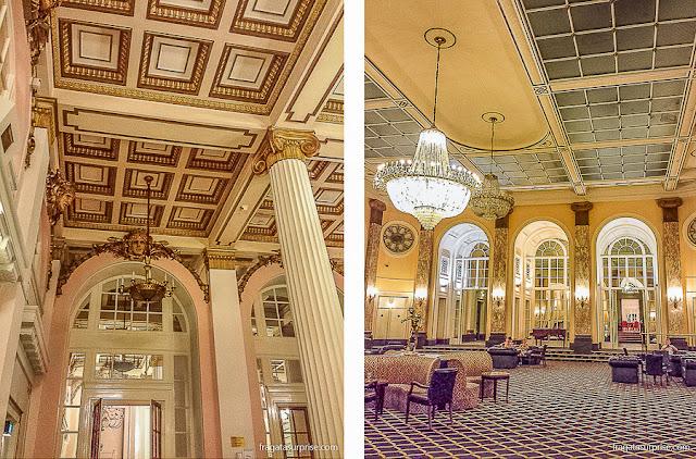 Decoração Belle Époque do Hotel Adelphi de Liverpool