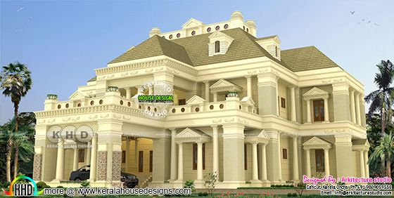 Super luxury 6 BHK decorative style colonial house