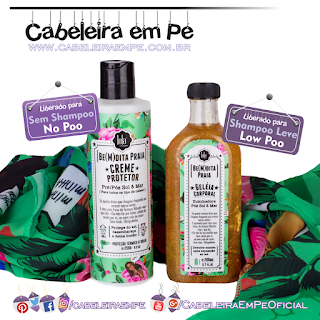 Creme Protetor (No Poo) e Geleia Corporal (Low Poo) Be(M)dita Praia - Lola