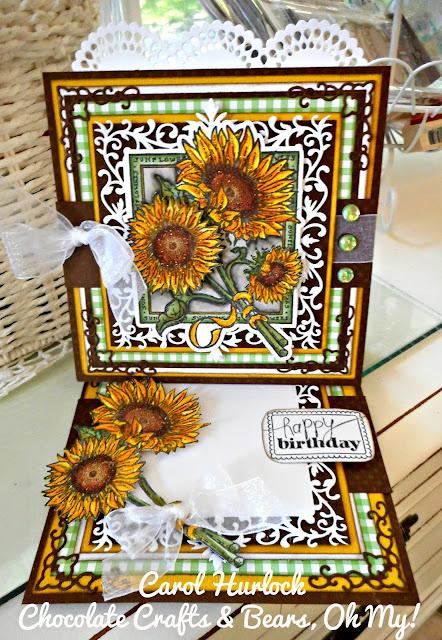 Layered 3d Sunflower Card