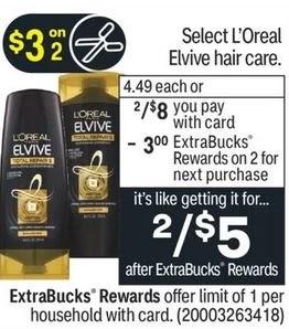 L'Oreal Elvive Shampoo or Conditioner