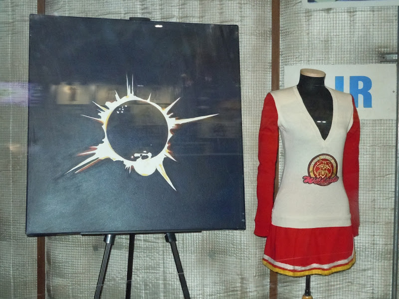 Heroes cheerleader costume and eclipse painting