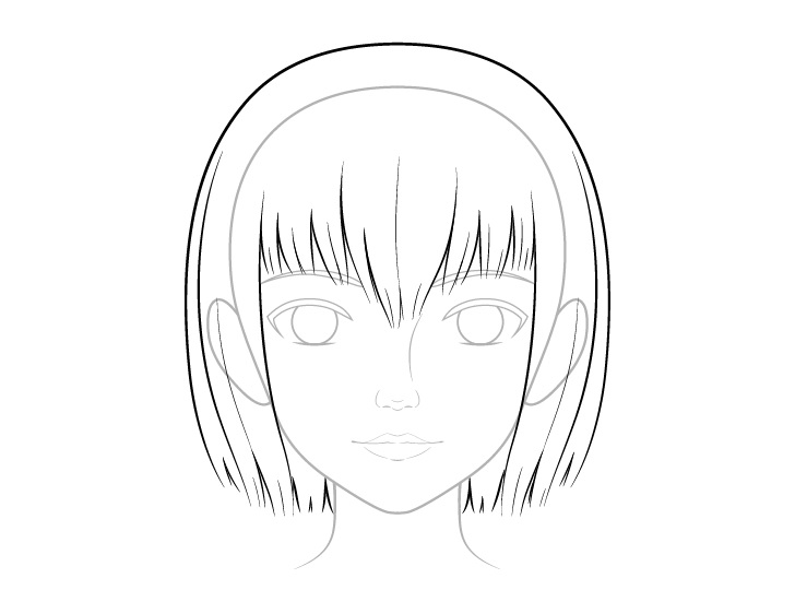 Gambar rambut anime realistis