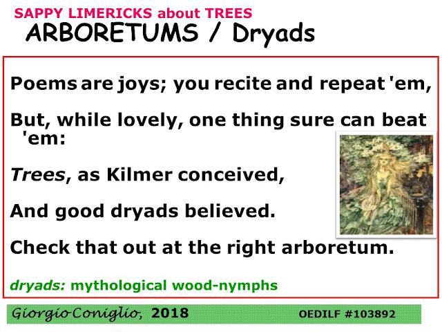 limerick; trees; arboretum; Joyce kilmer; poetry; Giorgio Coniglio