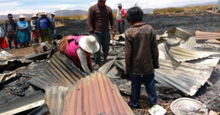 Isla flotante más antigua del Titicaca pide ayuda para reconstruir su colegio - Puno
