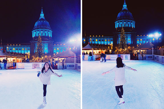 Christmas in San Francisco: The Winter Park at Civic Center is home of the city's newest outdoor ice skating rink