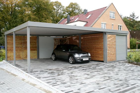 40 Model Favorit Garasi Modern Masa Kini Rumahku Unik