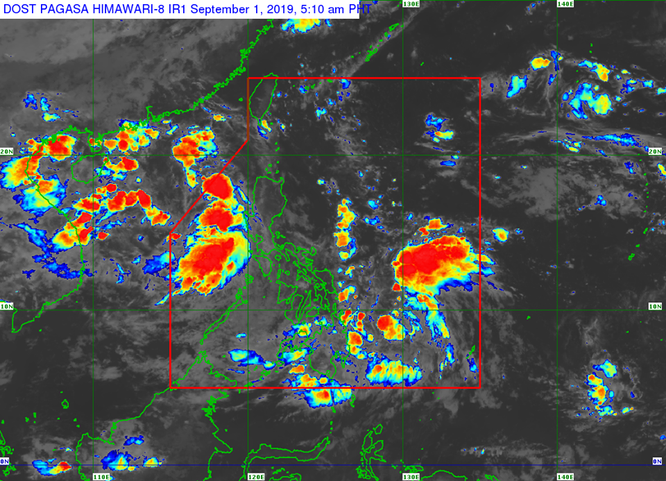 Satellite image of Tropical Depression 'Kabayan' as of 5:10 am on Sunday, September 1