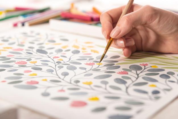 7+ Prosedur Menggambar Ragam Hias  Seni Budaya Kelas VII Dilengkapi Contoh Kerajinan