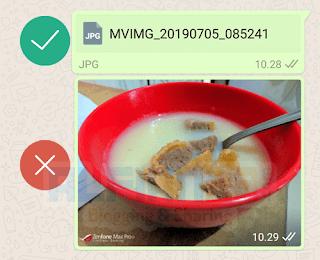 Gambar HD bisa dikirim melalui Whatsapp