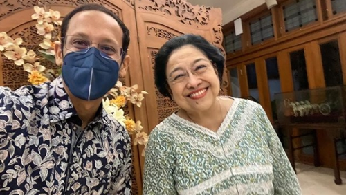 Nadiem Makarim Bertemu Megawati di Tengah Isu Reshuffle