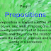 USE OF PREPOSITIONS Part-1