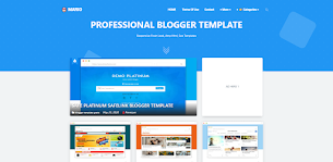 Mario Premium Blogger Template - Responsive Blogger Template
