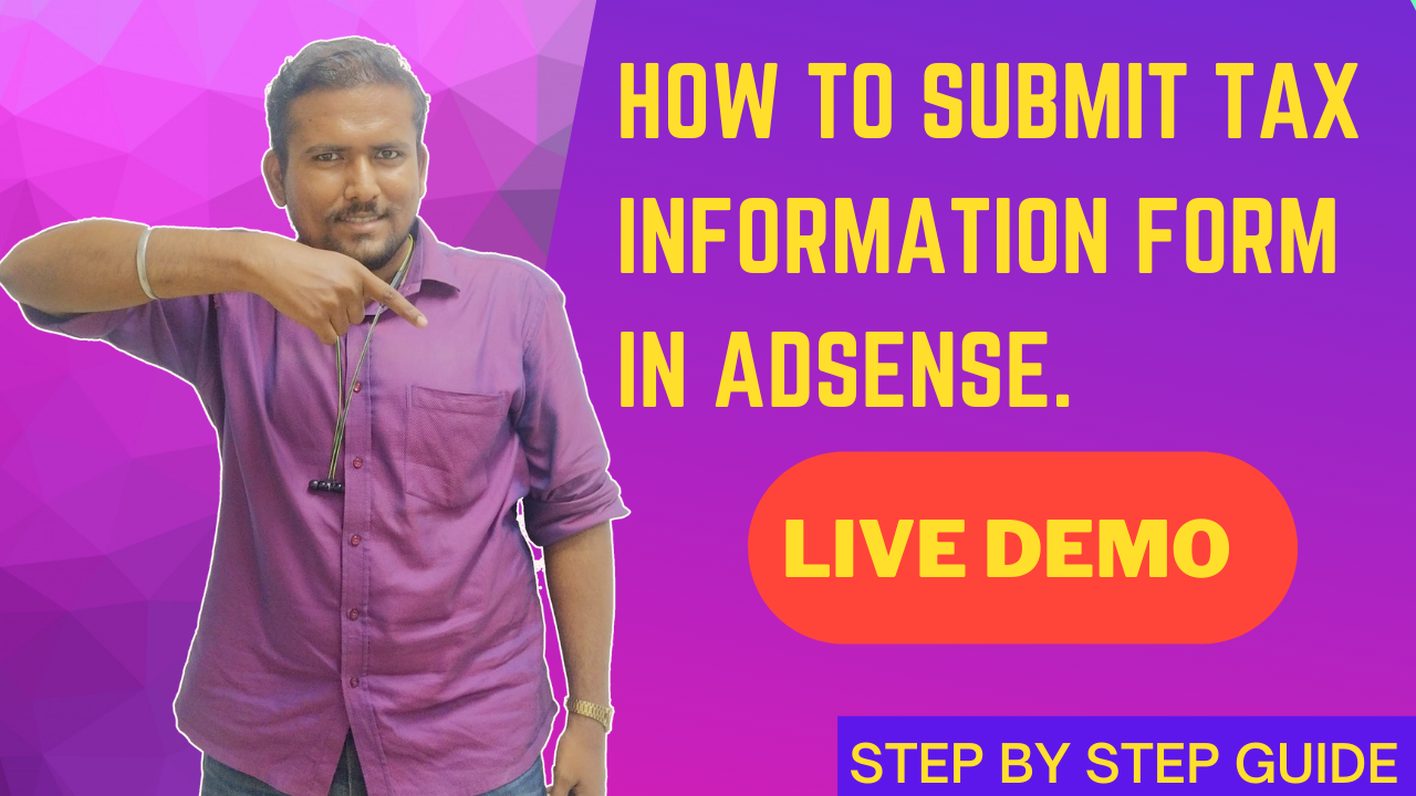 How to submit US Tax Form Adsense