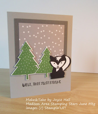 Skunk card made with Stampin'UP!'s Foxy Friends stamp set and Fox Builder Punch