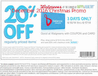 Walgreens coupons december