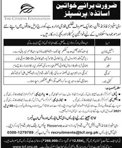 The Citizen Foundation (TCF) Pakistan Jobs 2021 in Pakistan