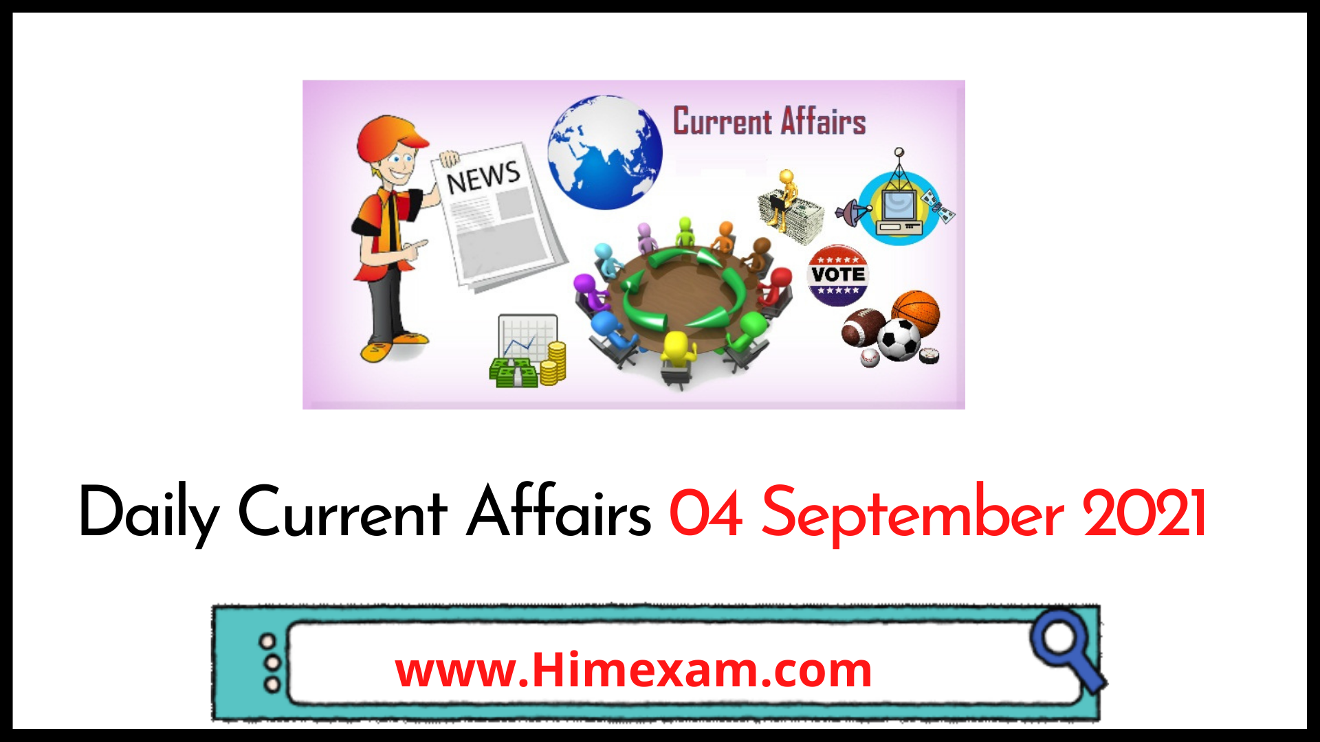 Daily Current Affairs 04 September 2021