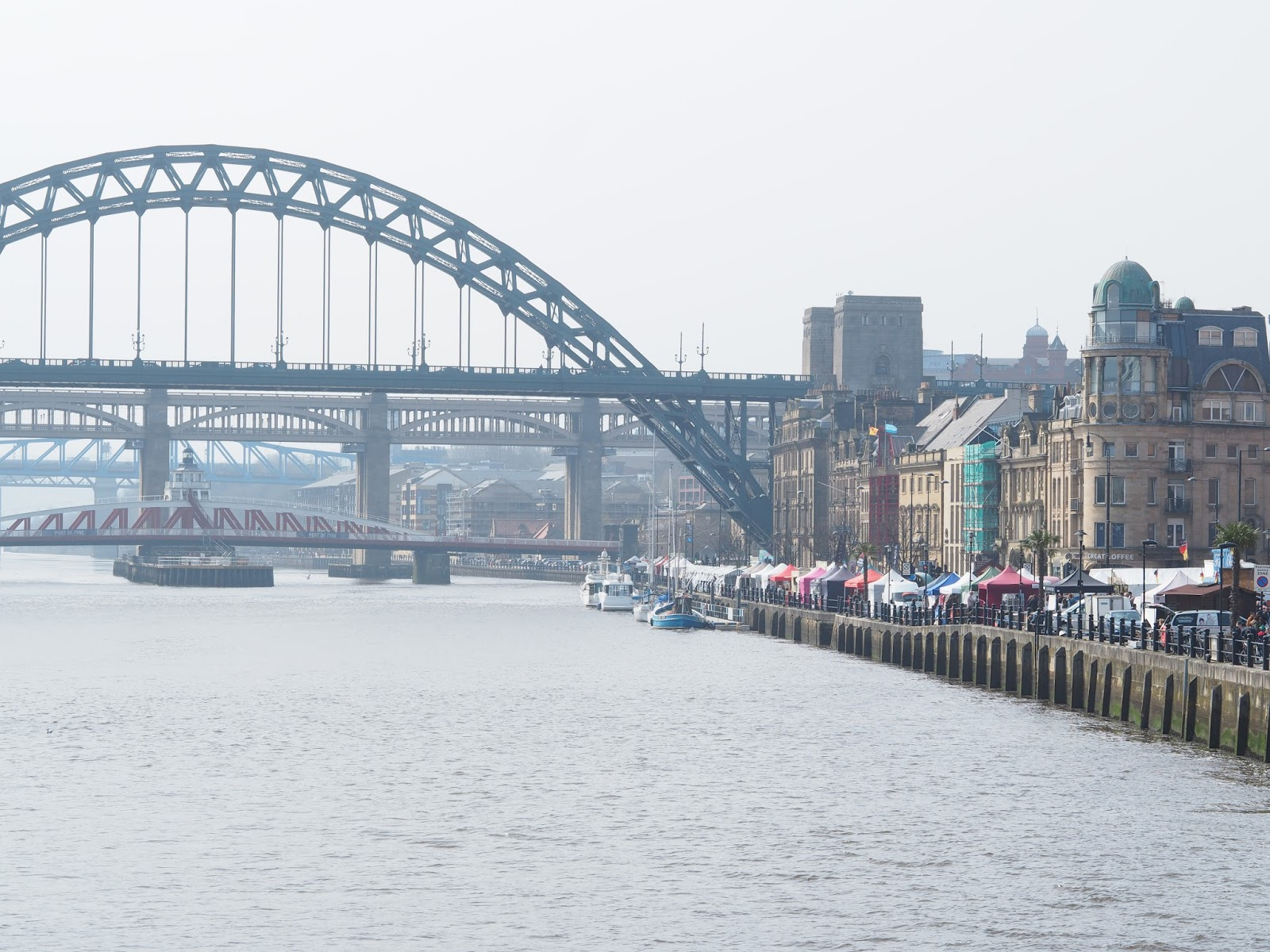 tyne bridge newcastle quayside street food market
