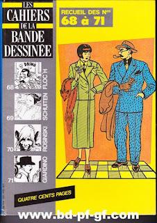 Les cahiers de la bande dessinée, recueil de 68 à 71