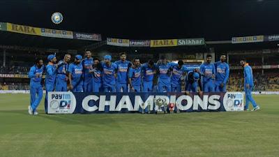 Team India won series 2-1